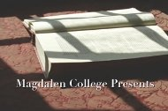 Magdalen College Lectures